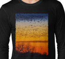 Swarm Setting – Sandhills over The Platte Long Sleeve T-Shirt