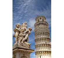 Leaning tower and Duomo in Campo di Miracoli field of Miracles, Pisa, Tuscany, Italy Photographic Print