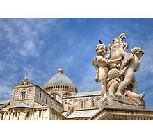 Campo di Miracoli field of Miracles, Pisa, Tuscany Photographic Print