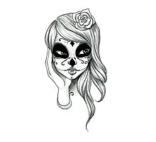 Sugar Skull Girl Photographic Print