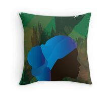 African Woman Silhouette Throw Pillow