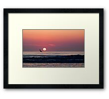 sunrise over the Atlantic Framed Print