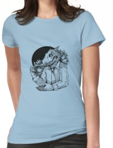 Jack likes tea Womens Fitted T-Shirt