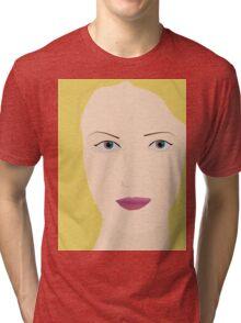 Blonde woman print Tri-blend T-Shirt