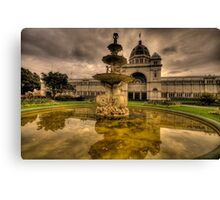 Victorian Majesty , Melbourne -Royal Exhibition Building & Carlton Gardens - The HDR Experience Canvas Print