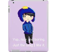 Yup, nice and boring. Just the way I like it. iPad Case/Skin