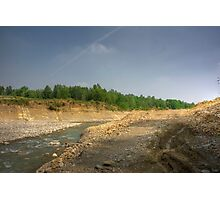 Morning View - River Secchia,Sassuolo,Italy - HDR Photographic Print
