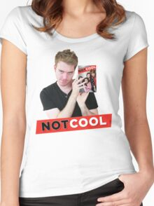 Not Cool - Shane Dawson promo Women's Fitted Scoop T-Shirt