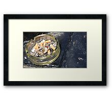 Seaside Ashtray Framed Print