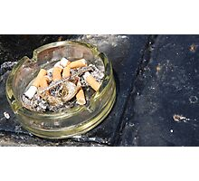 Seaside Ashtray Photographic Print