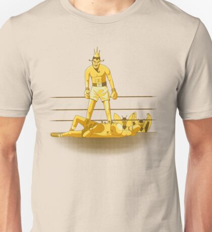 Float like a butterfly sting like a poison dart *gold version* Unisex T-Shirt