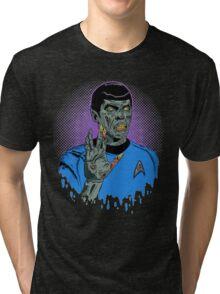 Captain Spock - Zombie Tri-blend T-Shirt