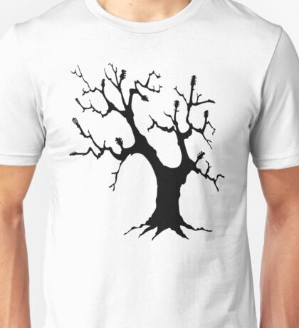 Guitar Tree (Black) Unisex T-Shirt