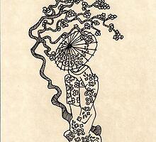 Umbrella Geisha by Octavio Velazquez
