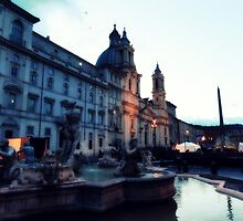 An Evening at the Piazza Navona by feng008
