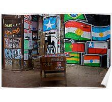 Graffiti Foosball, Berlin Poster