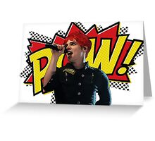 Gerard Way - POW! Greeting Card