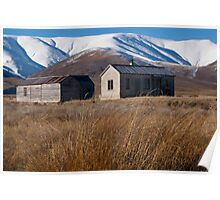 Hawkesdun Huts and Range beyond Poster