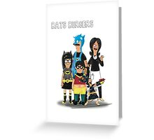 BATS BURGERS Greeting Card