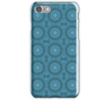Teal Abstract Flowers iPhone Case/Skin