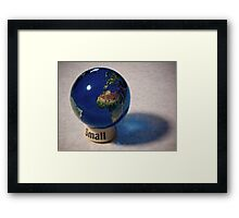It really is a small world, after all Framed Print