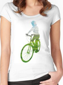 Green Transport 3 Women's Fitted Scoop T-Shirt