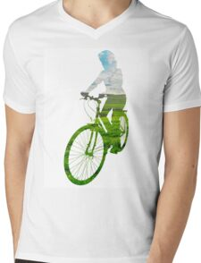Green Transport 3 Mens V-Neck T-Shirt