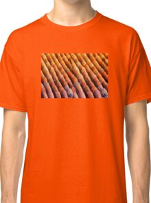Background of vintage roof tiles Classic T-Shirt