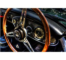 Steering Wheel & Dashboard Photographic Print