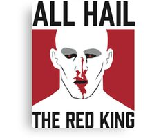 All Hail The Red King! Canvas Print