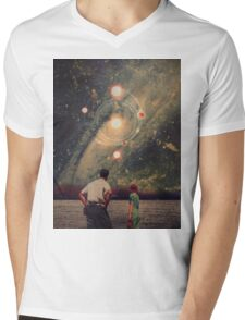 Light Explosions In Our Sky Mens V-Neck T-Shirt