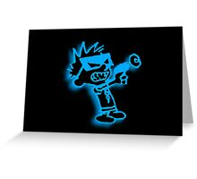 Spaceman Spiff - Black and Blue Greeting Card