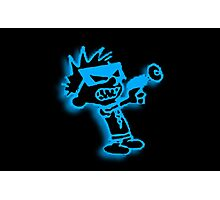 Spaceman Spiff - Black and Blue Photographic Print