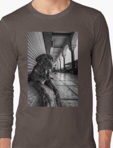 A cute stray dog relaxing Long Sleeve T-Shirt