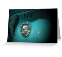 Classic in Turquoise Greeting Card