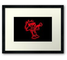 Spaceman Spiff - Red and Black Framed Print