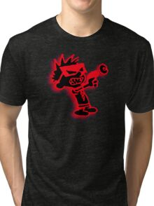 Spaceman Spiff - Red and Black Tri-blend T-Shirt