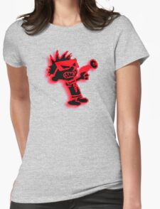 Spaceman Spiff - Red and Black Womens Fitted T-Shirt