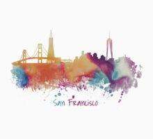 San Francisco City Skyline  Kids Tee
