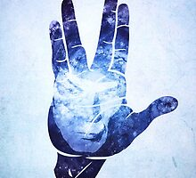 Spocks Hand - Leonard Nimoy Geek Tribute by badbugs