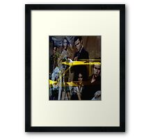 Yellow Taxi With Style Framed Print