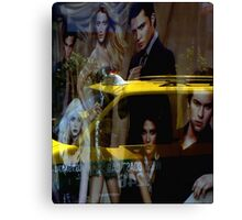 Yellow Taxi With Style Canvas Print
