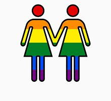 Lesbian Symbols Holding Hands Unisex T-Shirt