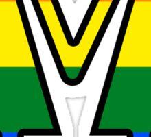 Lesbian Symbols Holding Hands Sticker