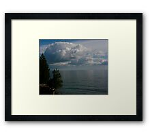 Storms a comin' Framed Print