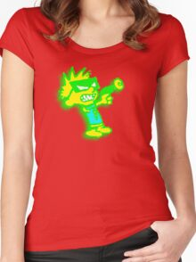 Spaceman Spiff - Green and Yellow Women's Fitted Scoop T-Shirt