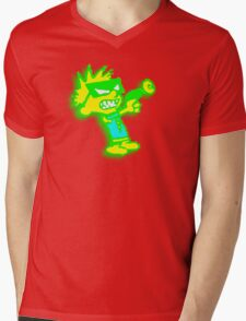 Spaceman Spiff - Green and Yellow Mens V-Neck T-Shirt