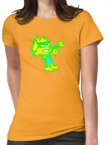 Spaceman Spiff - Green and Yellow Womens Fitted T-Shirt