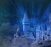 Moonlight on Hogwarts by Lightrace