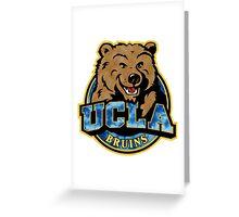 UCLA Bear Logo Grunge Greeting Card